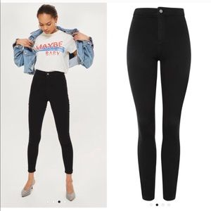 Topshop Joni Black High Waist Jeans 25